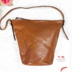 Coach leather bleeker bucket bag